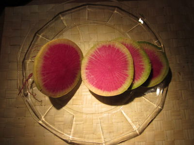 Watermelon Radish - so beautiful!