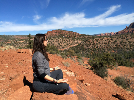 Meditation in Sedona Red Rocks