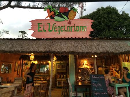 Vegetarian restaurant in town