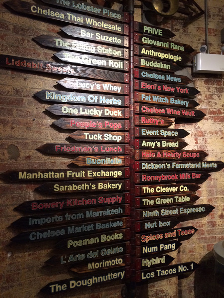 Chelsea Market Display Board