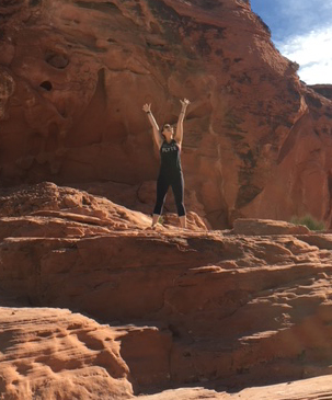 Hiking in the red rocks in Nevada!
